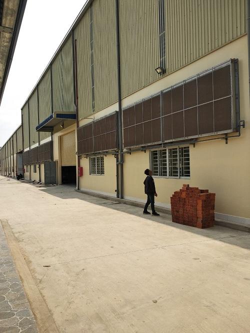 hệ thống làm mát nhà xưởng bằng coolling pad